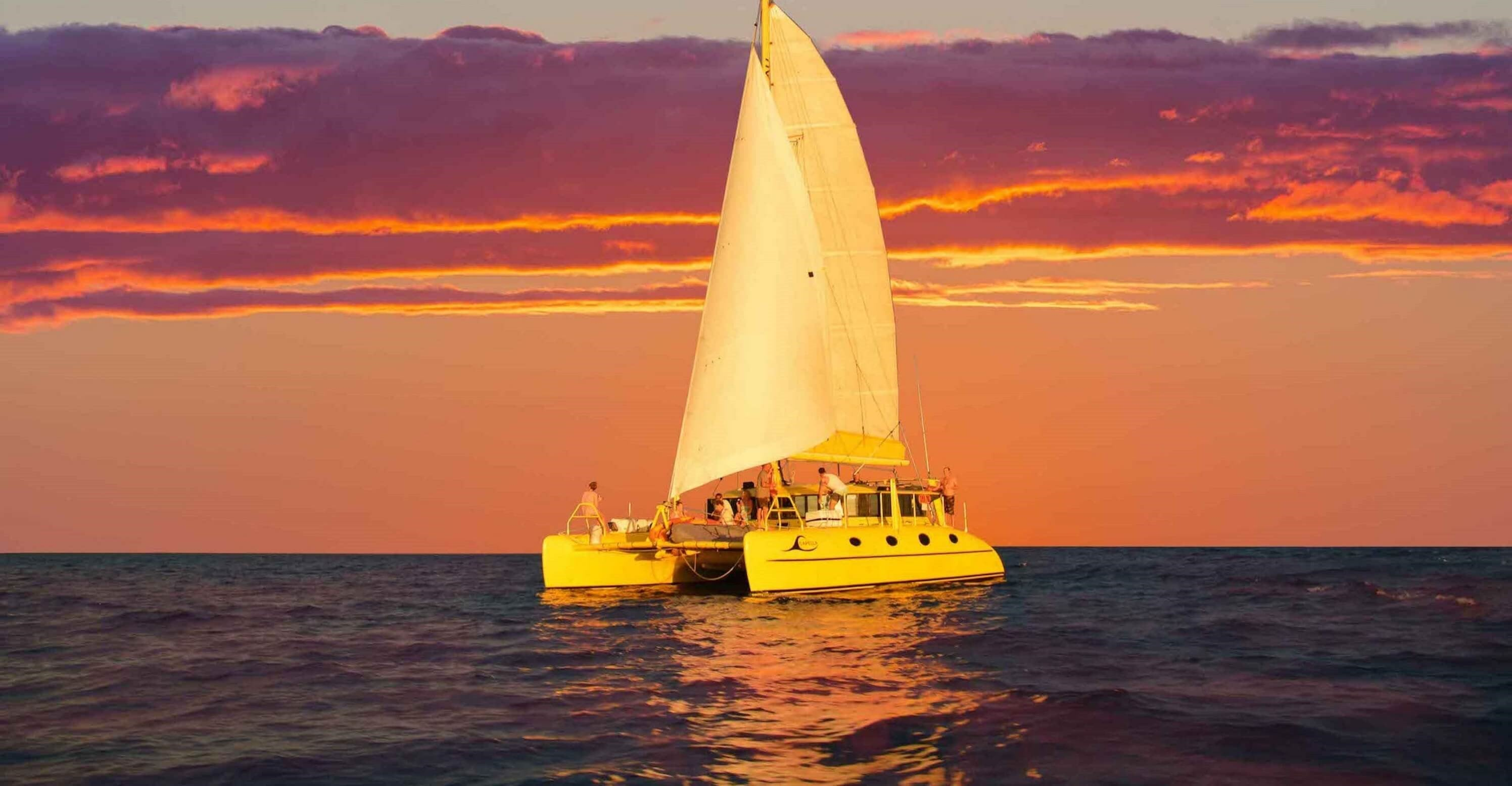Sunset Twilight Sailing Fremantle Perth Western Australia