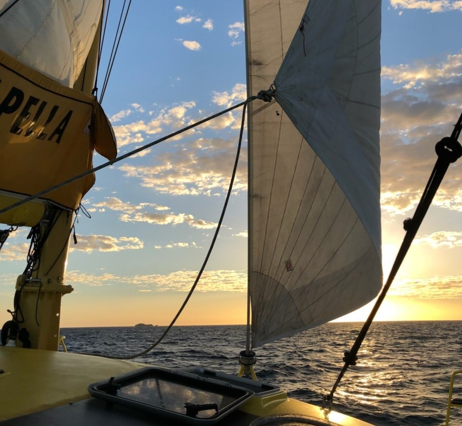 Group of Freinds on Freo Twilight Sail